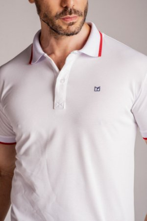 Camisa Gola Polo lisa Branca