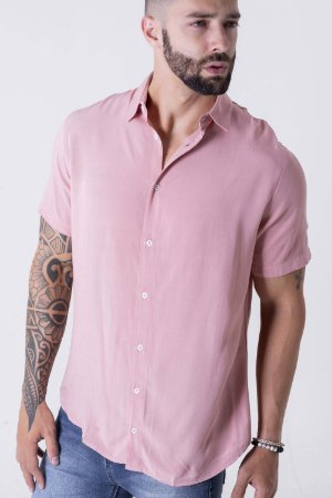 Camisa Manga Curta Viscose