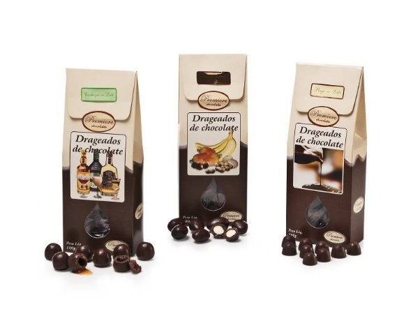 FRUTAS COBERTAS COM CHOCOLATE 100G - sabores sortidos