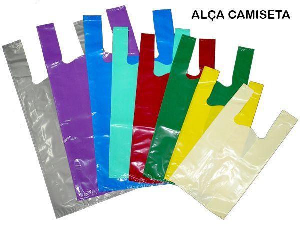 Sacola Plástica Alça Camiseta 50x60x0,05