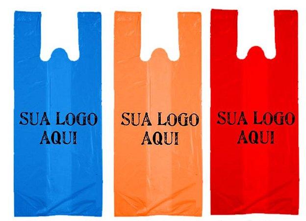 Sacola Plástica Personalizada Alça Camiseta