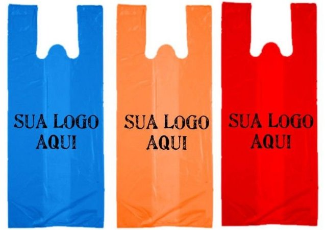 Sacola Plástica Personalizada Alça Camiseta 40x50x0.05