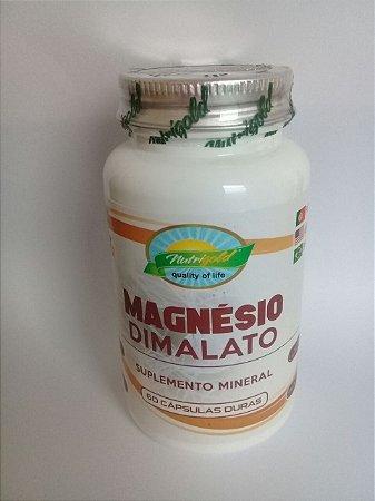 MAGNÉSIO DIMALATO - 60 CÁPSULAS - NUTRI GOLD