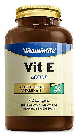 VITAMINA E 400 UI 60 SOFTGELS - VITAMINLIFE