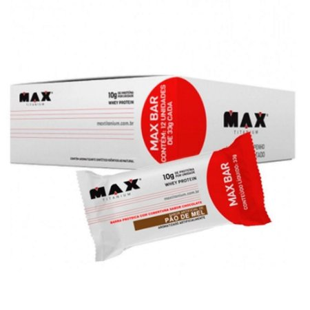 MAX BAR 33 GRAMAS C/12 UNIDADES - MAX TITANIUM