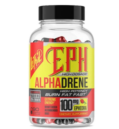 ALPHADRENE 100 MG EPH 90 CÁPSULAS - LETHAL SUPPLEMENTS