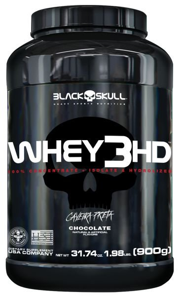 WHEY 3HD 900 GR - BLACK SKULL