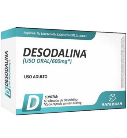 DESODALINA 600 MG 60 CÁPSULAS - POWER SUPPLEMENTS