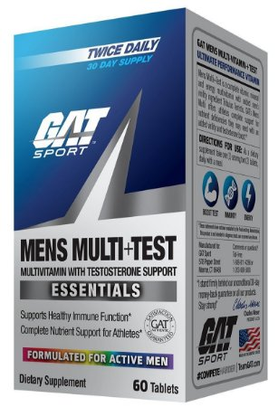 MENS MULTI TEST 60 TABLETS - GAT