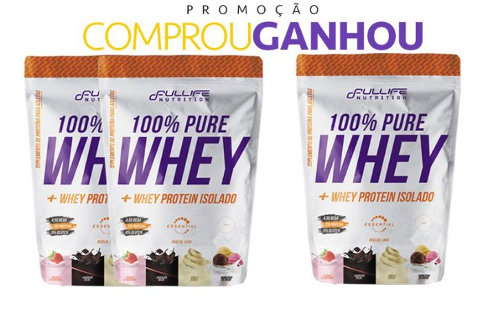 100% PURE WHEY 900 GR - FULLLIFE NUTRITION (COMPROUGANHOU)