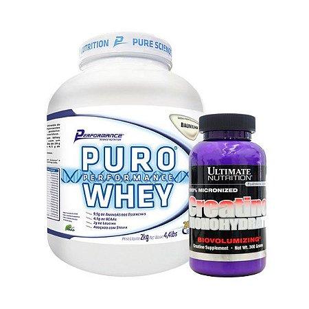 PURO WHEY 2KG + CREA ULTIMATE 300 GR