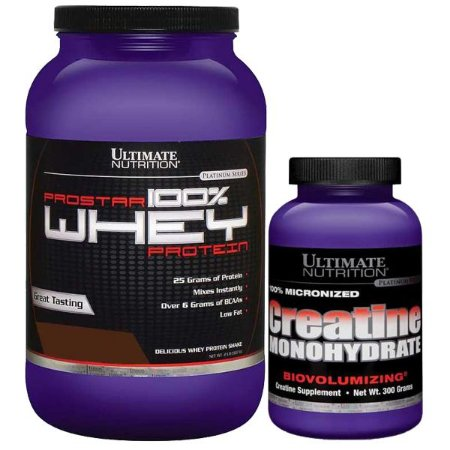 COMBO PROSTAR 100% WHEY 907 GR + C 300 GR - ULTIMATE NUTRITION