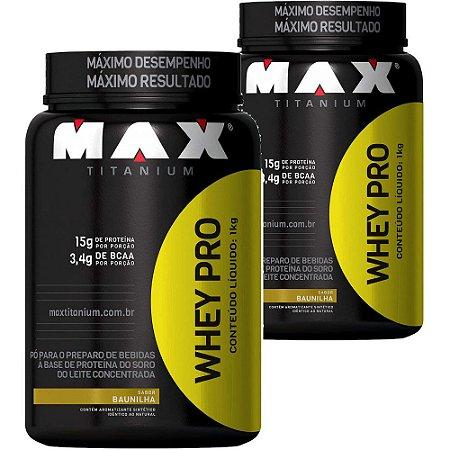 2X WHEY PRO 1 KG - MAX TITANIUM