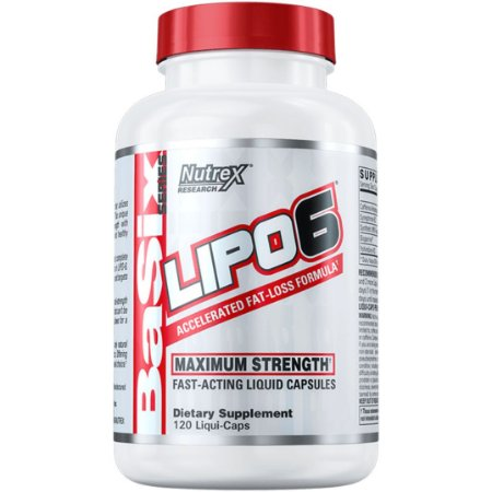 LIPO 6 WHITE 120 CAPS - NUTREX RESEARCH