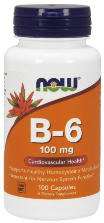 VITAMINA B-6 100 MG 100 CÁPSULAS - NOW FOODS