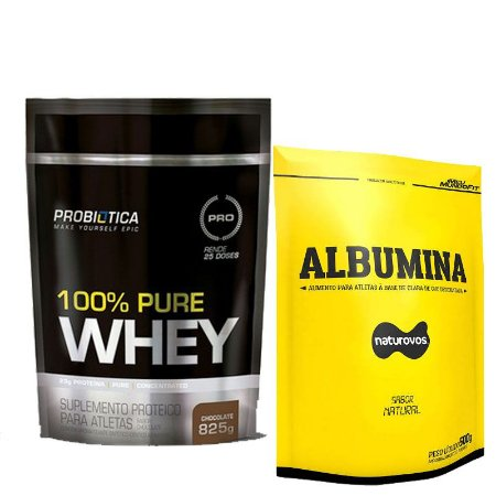 KIT 100% PURE WHEY 825 GR + PROTEINA DO OVO 500 GR