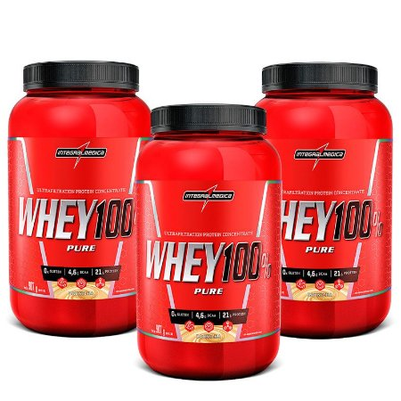 COMBO 3X WHEY 100% 907 GR - INTEGRAL MEDICA