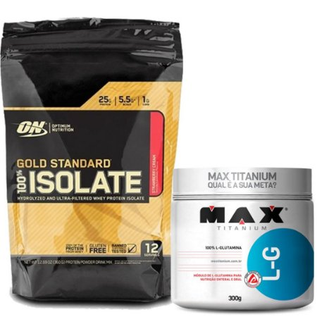 100% GOLD STANDARD ISOLATE 0.79 LIBRAS + GLUTAMINA 300 GR