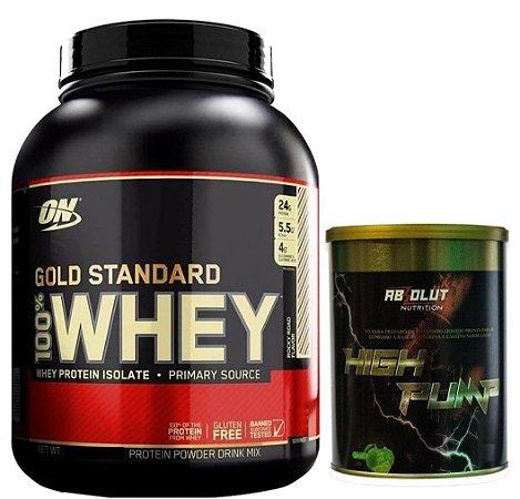 100% WHEY PROTEIN GOLD STANDARD 2.26 KG + BRINDE - OPTIMUM NUTRITION