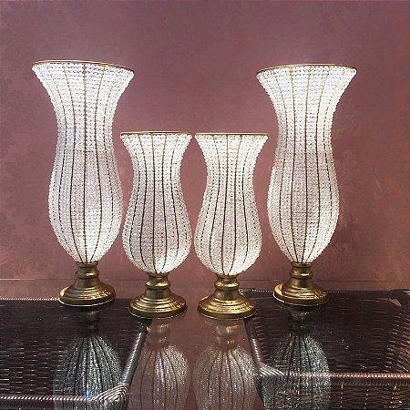 Kit de vasos de pedraria cristal atelie cristal - Vasos grandes cristal ...