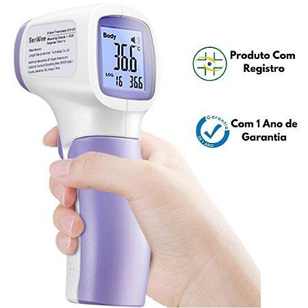 Termômetro Infravermelho de Testa Adulto e Infantil com Anvisa