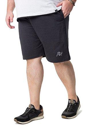Bermuda com Bolso Masculina Plus Size Preta Wb-bma6