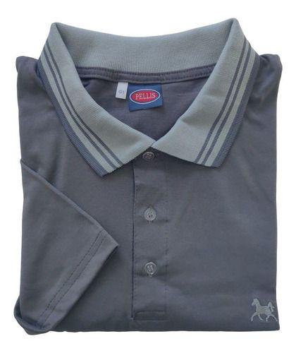 Camisa Polo Gola E Punho Contrastante Plus Size Ref 600  plp3