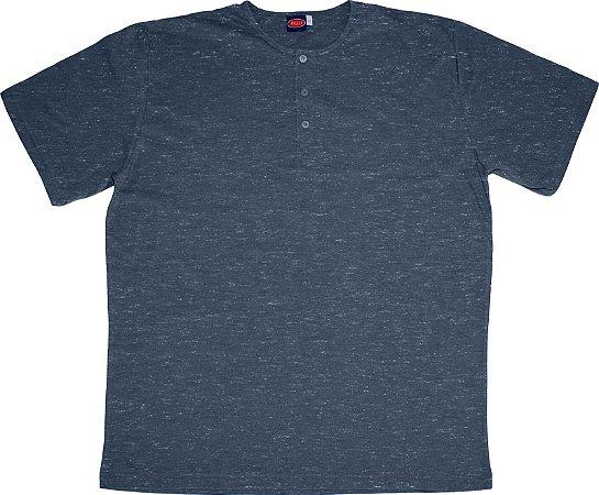Camiseta Masculina Manga Curta Plus Size Mescla cpp2