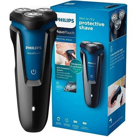 Barbeador Elétrico Philips Aquatouch S1030/04 Cerberus - 3 Cabeças de Corte - à Prova D'água - Seco ou Molhado
