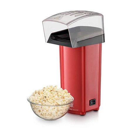 Pipoqueira Elétrica Sem Óleo Multilaser Gourmet - 900W - 0% de Gordura - Vermelha