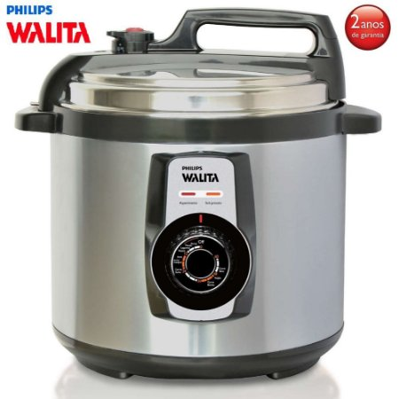 Panela de Pressão Elétrica Inox Philips Walita Daily Collection - 5 Litros - 900W - RI3103