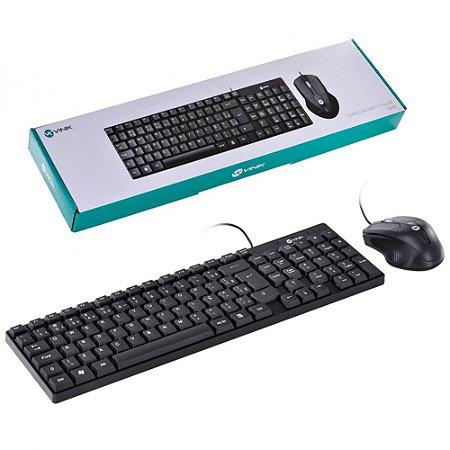 Kit Teclado e Mouse USB - ABNT2 - 1200dpi - Cabo USB 1,8m - Preto - Vinik CC200