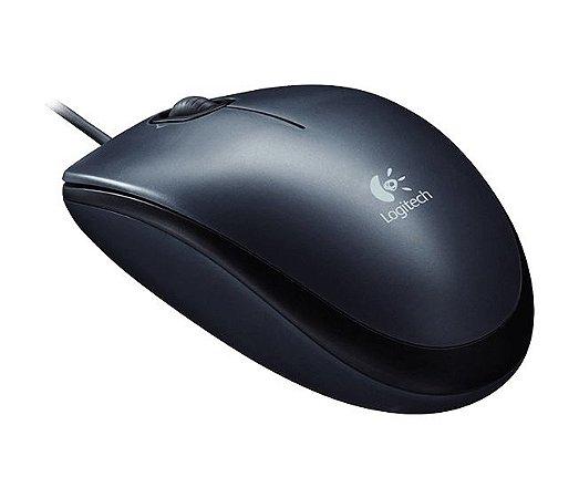 Mouse com fio M100 Logitech