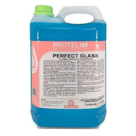 LIMPA VIDROS E ESPELHOS PERFECT GLASS 5 LITROS PROTELIM