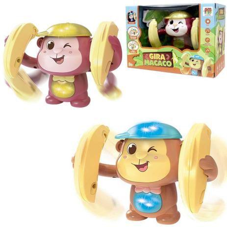 Gira Macaco com Som e Luz DMT6162 Dm Toys