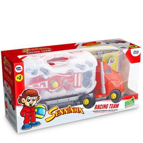 Caminhão Racing Team Senninha com Maleta e Acessórios 2020 Pakitoys