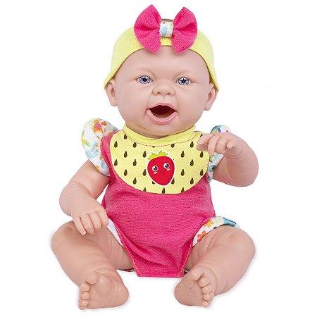 Boneca Baby Ninos Reborn Hora do Lanche 2406 - Cotiplás