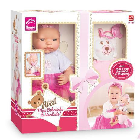 Boneca Bebezinho Real 5680 Roma