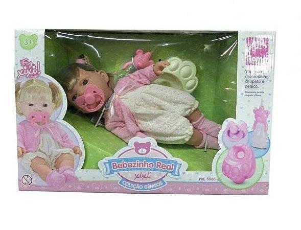 Boneca Bebezinho Real Xixi 5685 - Roma