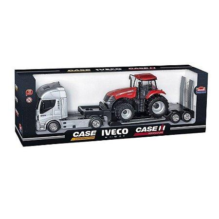 Caminhão Carreta Plataforma Hi-Way Iveco com Trator Magnum 403 Usual