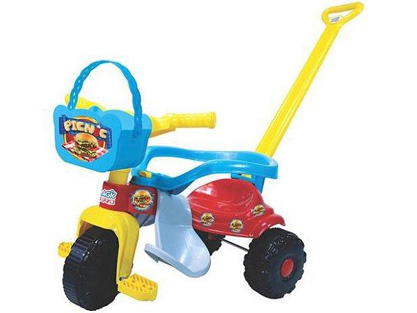 Triciclo Tico-Tico Pic-Nic Azul/Vermelho 2565 Magic Toys
