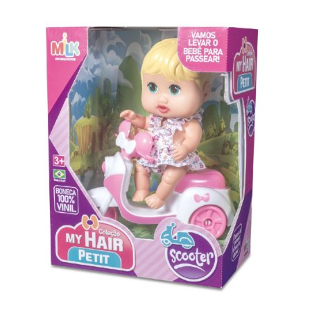 Boneca My Hair Petit Scooter 437 Milk