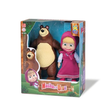 Bonecos Masha e o Urso 8117 Divertoys