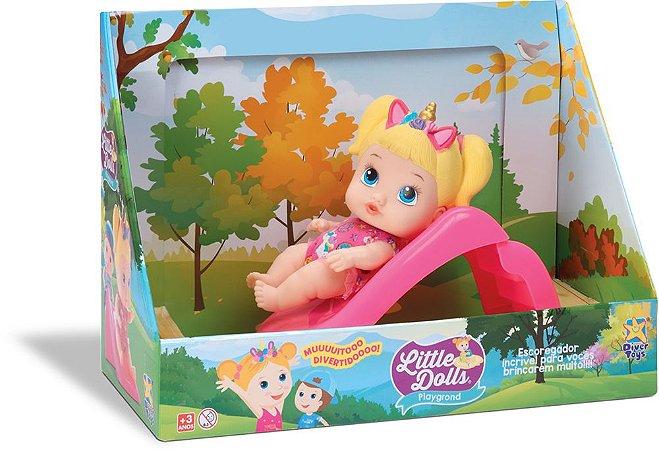Boneca Little Dolls Escorregador 8096 Divertoys