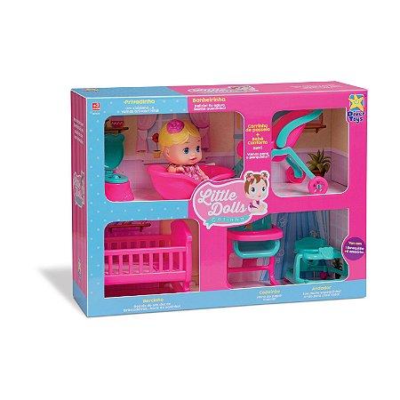 Boneca Little Dolls Casinha 8023 - Divertoys