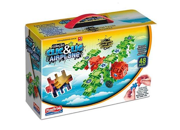Clic & Lig Airplane 48 Peças 0662 Plasbrink
