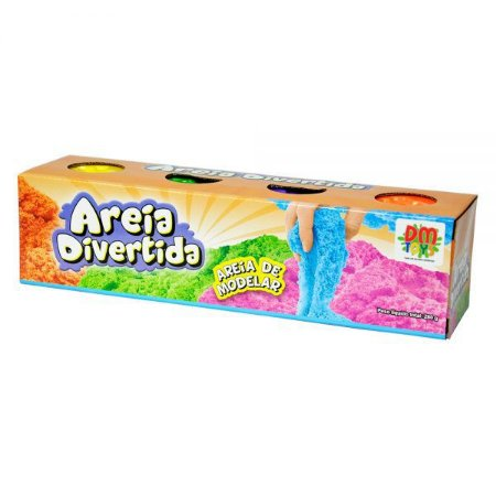 Areia Divertida 4 potes DMT5129 DM Toys