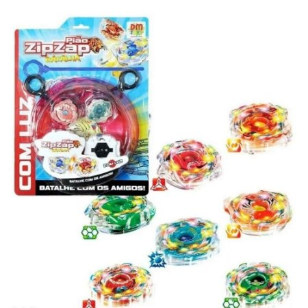 Pião Zip Zap Batalha DMT5389 DM Toys