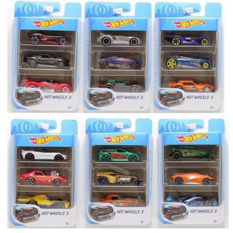 Hot Whells conjunto com 3 K5904 Mattel