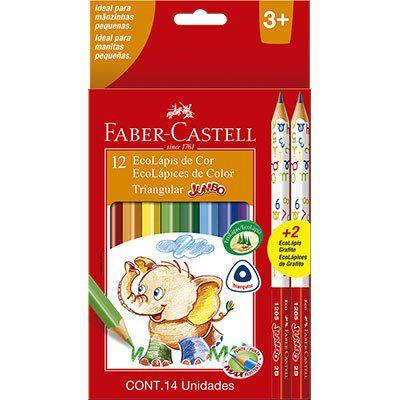 Lápis de Cor Faber Castell Jumbo 12 cores